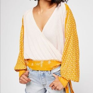 Free People Auxton Thermal Balloon Sleeve Top